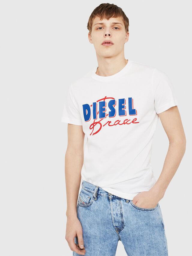 Diesel - T-DIEGO-C2, White/Red/Blu - T-Shirts - Image 1