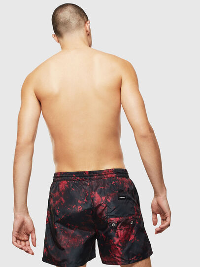 Diesel - BMBX-CAYBAY, Black/Red - Swim shorts - Image 2