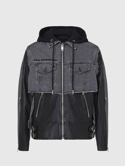 Diesel - L-IVAN, Black - Leather jackets - Image 1
