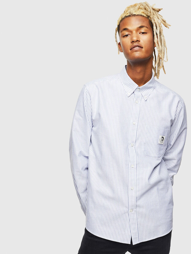 S-JAMES-A, Blue/White - Shirts