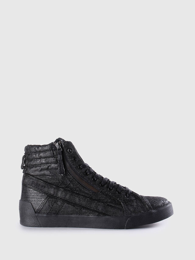 Diesel - D-STRING PLUS, Black Leather - Sneakers - Image 1