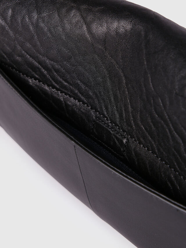 Diesel LE-MISHA, Black Leather - Crossbody Bags - Image 4