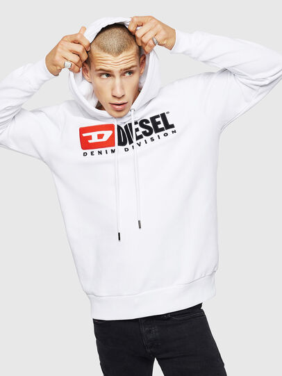 Diesel - S-GIR-HOOD-DIVISION, White - Sweaters - Image 1