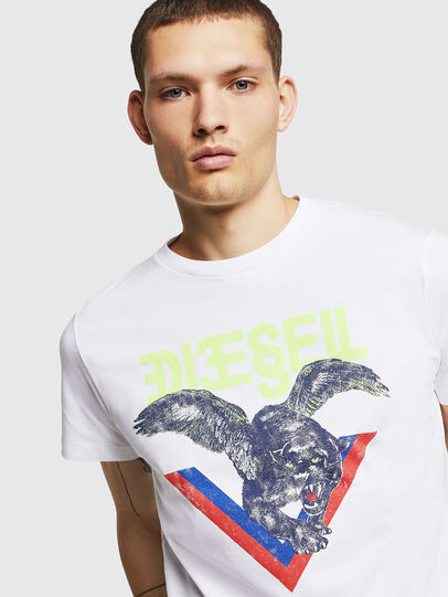 Diesel - T-DIEGO-A4, White - T-Shirts - Image 3