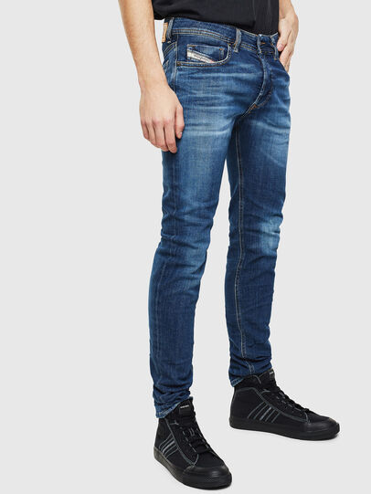 Diesel - Sleenker 0097T, Dark Blue - Jeans - Image 4