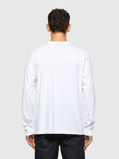 Diesel - T-JUST-LS-A1, White - T-Shirts - Image 2
