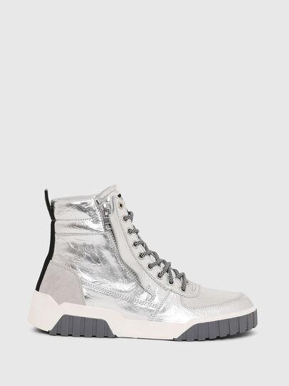 Diesel - S-RUA MID W, Silver - Sneakers - Image 1