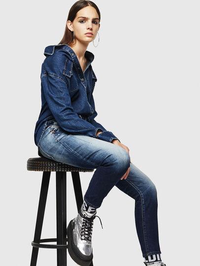 Diesel - Fayza 0092I, Dark Blue - Jeans - Image 4