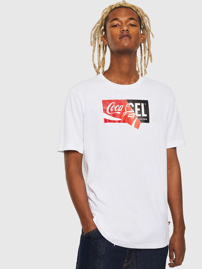 Diesel - CC-T-JUST-COLA, White - T-Shirts - Image 1