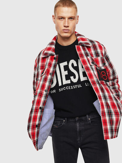 Diesel - S-JOHNS, Red/Black - Shirts - Image 6