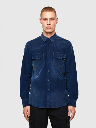 Diesel - S-EAST-LONG-VE, Blue - Shirts - Image 1