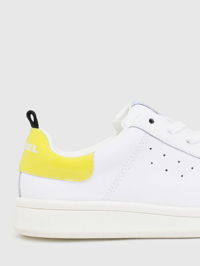 Diesel - SN LOW LACE 11 FULL, White/Yellow - Footwear - Image 4