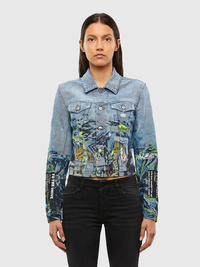 Diesel - DE-LIMMY-SX, Light Blue - Denim Jackets - Image 1