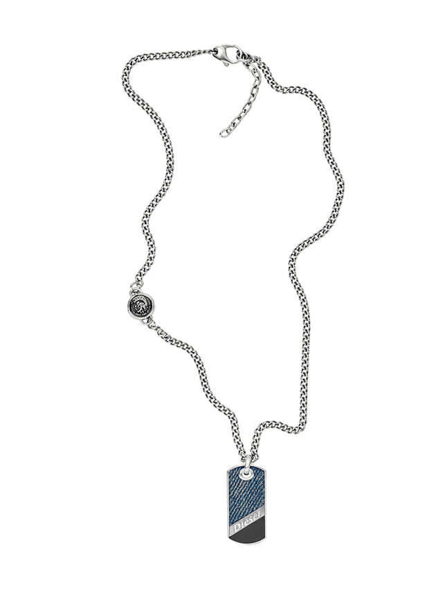 Diesel - NECKLACE DX1030, Blue Jeans - Necklaces - Image 1