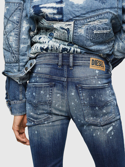 Diesel - Sleenker 0091Y, Medium blue - Jeans - Image 5