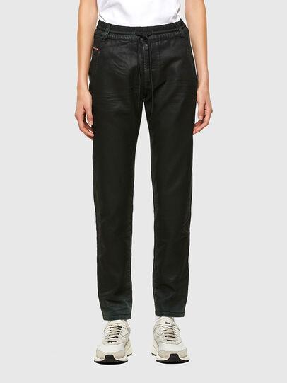 Diesel - Krailey JoggJeans 069QP, Black/Green - Jeans - Image 1