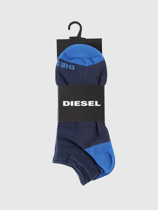Diesel - SKM-GOST-THREEPACK, Indigo - Low-cut socks - Image 2