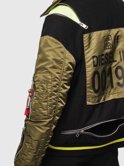 Diesel - W-SHARYN, Black/Green - Winter Jackets - Image 5