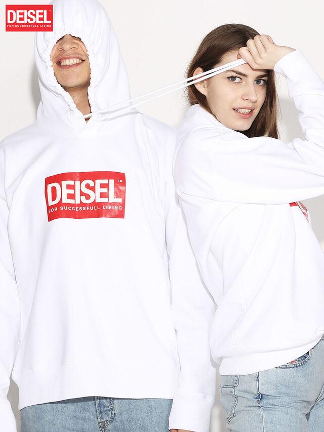 Diesel - DEIS-SHOOD, White - Sweaters - Image 1