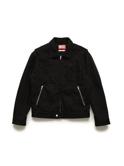 Diesel - GR02-J301, Black - Denim Jackets - Image 1