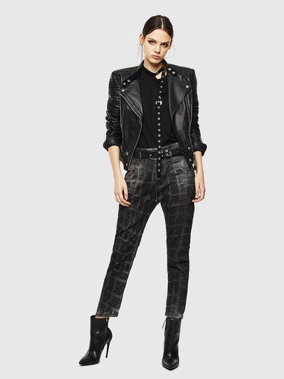 Diesel - Fayza JoggJeans 0094M, Black/Dark grey - Jeans - Image 7