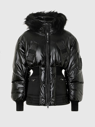 W-ISOKE-SHINY, Black - Winter Jackets