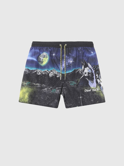 Diesel - BMBX-WAVE 2.017, Black/Blue - Swim shorts - Image 4