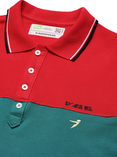 Diesel - D-IHATEPOLOS, Green/Red - Polos - Image 3