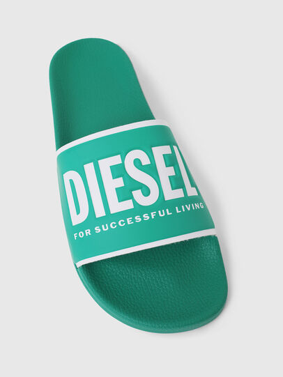 Diesel - SA-VALLA, Green - Slippers - Image 4