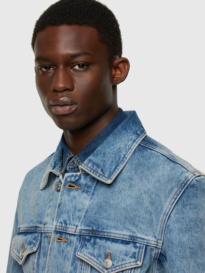 Diesel - NHILL-C1, Light Blue - Denim Jackets - Image 5