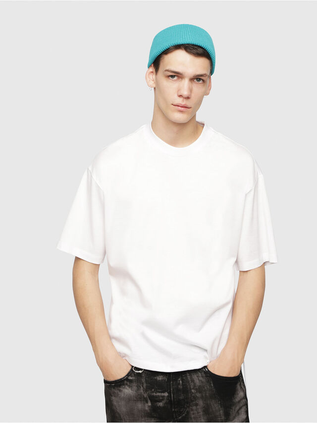 Diesel - T-PLAZA-A, White - T-Shirts - Image 1