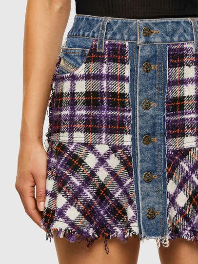 Diesel - O-BETH-BUCLE, Blue/Violet - Skirts - Image 3