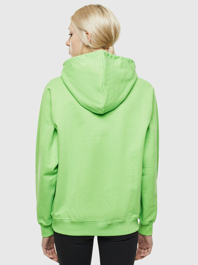 Diesel - F-ANG-HOOD-J1, Green Fluo - Sweaters - Image 2