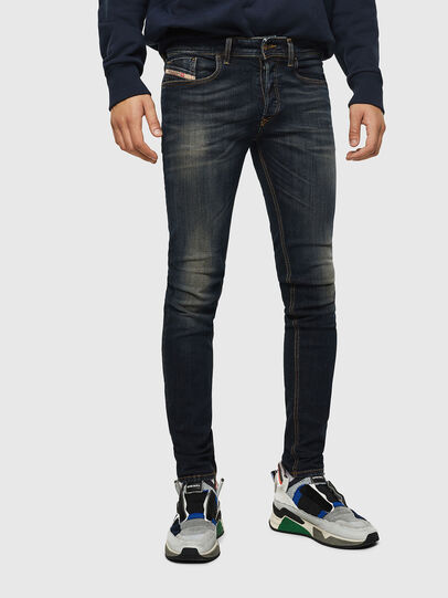 Diesel - Sleenker 069FX, Dark Blue - Jeans - Image 1