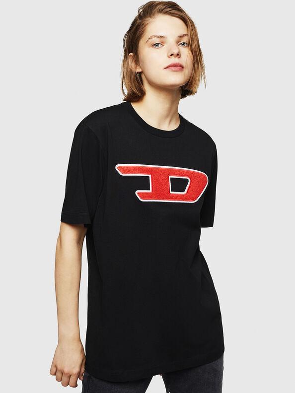 T-JUST-DIVISION-D-FL, Black - T-Shirts
