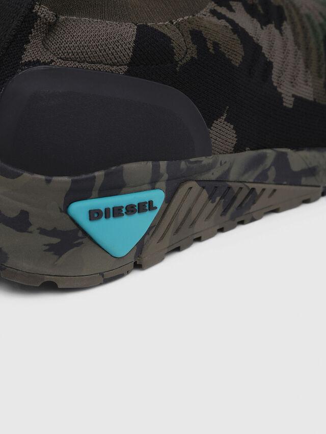 Diesel - S-KB ATHL SOCK, Green Camouflage - Sneakers - Image 5