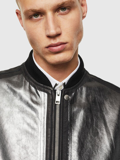Diesel - L-STEWARD-FOIL, Black - Leather jackets - Image 5