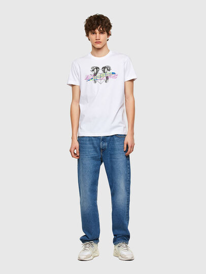 Diesel - T-DIEGOS-E35, White - T-Shirts - Image 4
