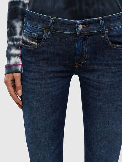 Diesel - Slandy Low 069PX, Dark Blue - Jeans - Image 3