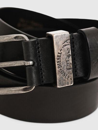 Diesel - B-FRAG, Black Leather - Belts - Image 2