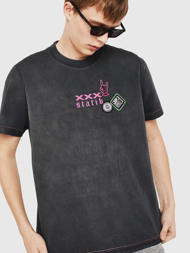 Diesel - T-MINORU, Black - T-Shirts - Image 5