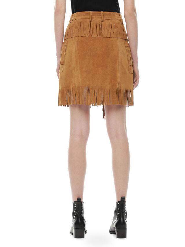 Diesel - OSCAP, Brown/Beige - Leather skirts - Image 2