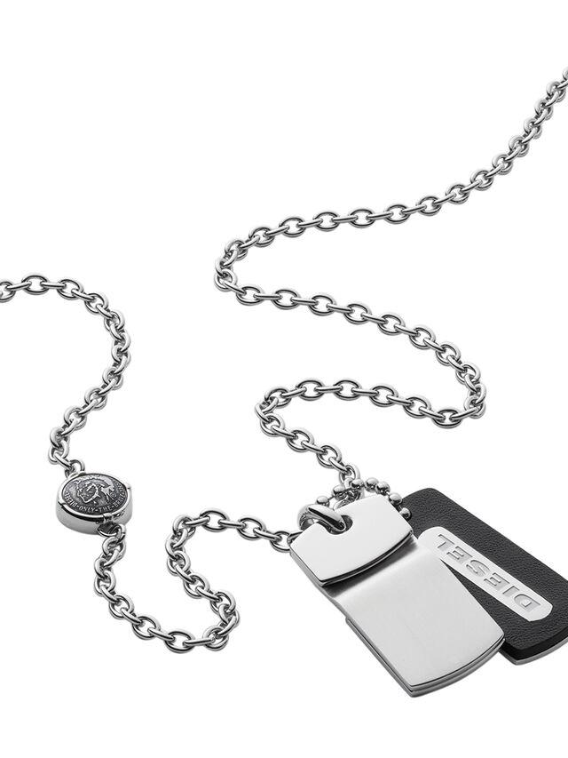 Diesel - NECKLACE DX0973, Silver - Necklaces - Image 2