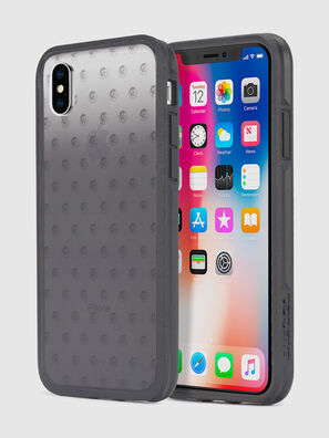 MOHICAN HEAD DOTS BLACK IPHONE X CASE,  - Cases