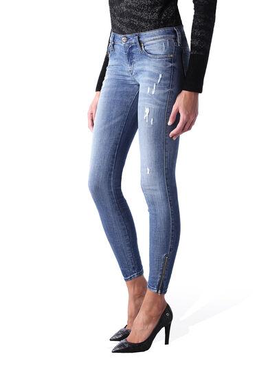 Diesel - Skinzee Low Zip 0847U, Medium blue - Jeans - Image 3