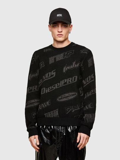 Diesel - K-NICKEL, Black - Knitwear - Image 1