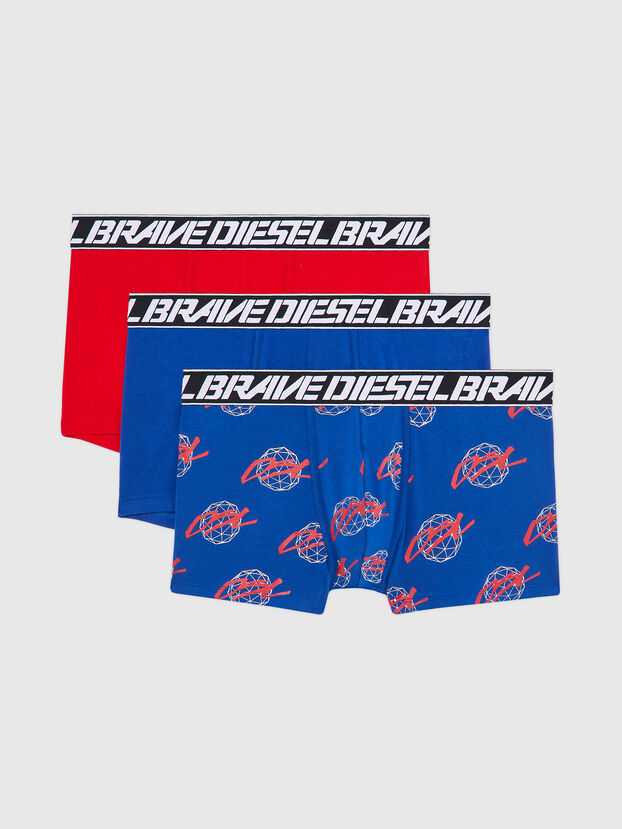 UMBX-DAMIENTHREEPACK, Blue/Red - Trunks