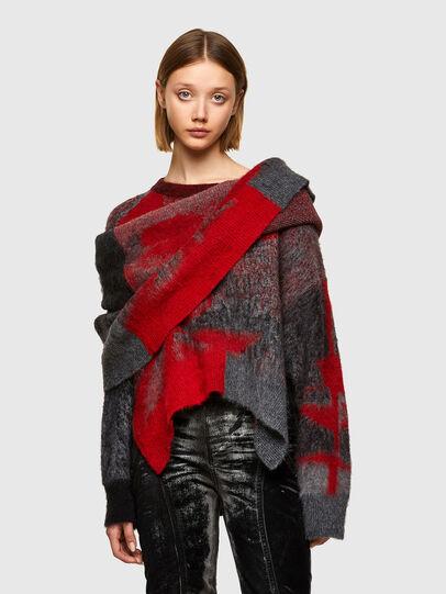 Diesel - M-BRONJA, Black/Red - Knitwear - Image 1