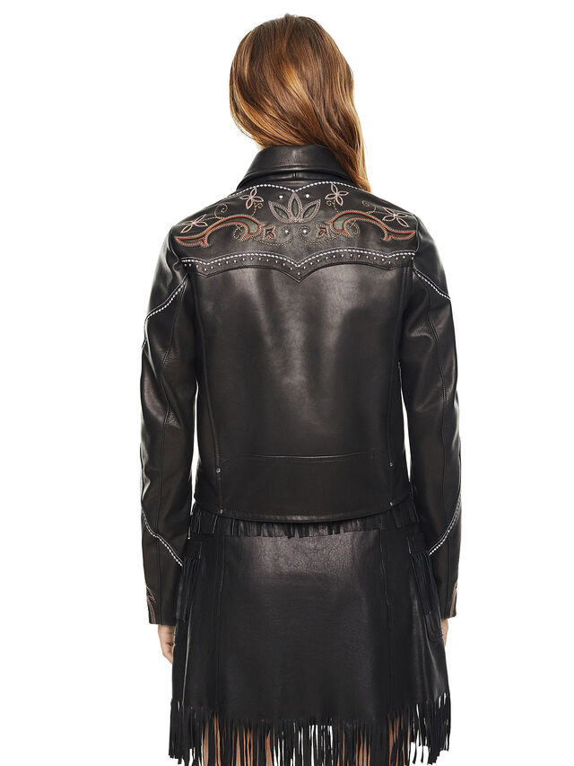 Diesel - LEXIA, Black Leather - Leather jackets - Image 2