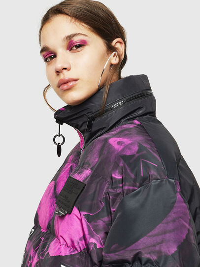 Diesel - W-PIATIGGY, Black/Pink - Winter Jackets - Image 5